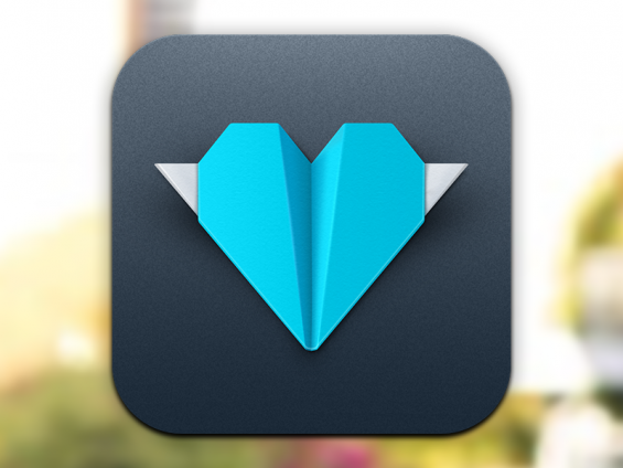 Kicksend iOS Icon by Wells Riley