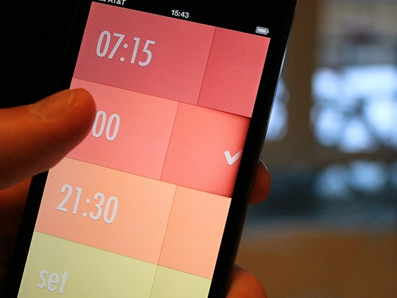 Alarm clock app for iPhone by Rick Waalders